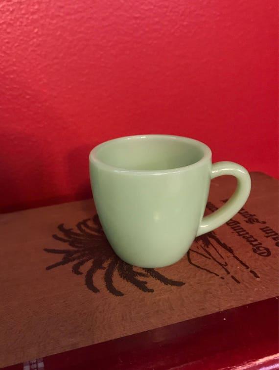One Jadeite Restaurant Ware Demitasse Cup