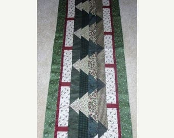 12% off thru July CAN'T SEE the Forest Christmas Trees table runner pattern December Year two- pieced quilted