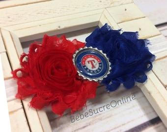 Texas Rangers Shabby Chic Headband