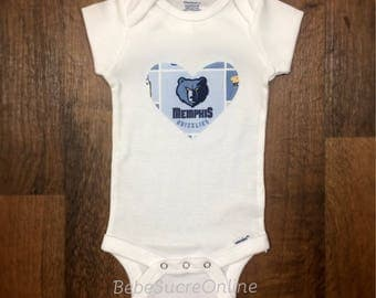 Memphis Grizzlies Girls Bodysuit or Toddler Shirt