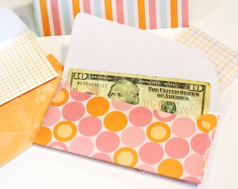 Cash System Envelopes, Money Budget Paper Pouches, Sherbert Colors Orange Raspberry Pink, Feminine Birthday Mothers Day Gift itsyourcountry