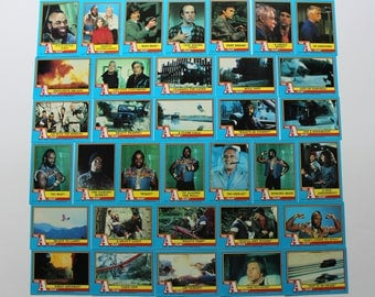 Vintage Topps A-Team Collectible Set of Trading Cards 1983