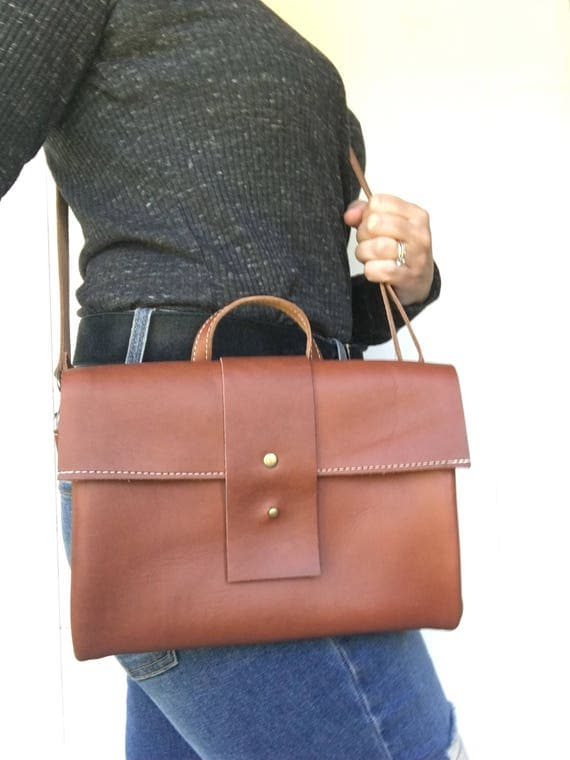 Brown crossbody bag, brown leather purse, crossbody purse, leather shoulder bag, everyday bag, leather bag