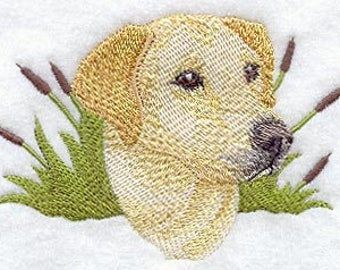 Labrador Retriever Head Embroidered Quilt Block for Your Creative Project