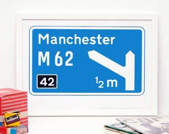 Personalised Motorway Sign Print
