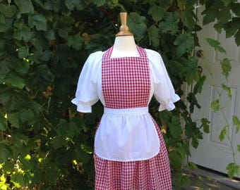Little Red Riding hood costume fairy tale apron costume aprons women's costume Halloween costume, red cape