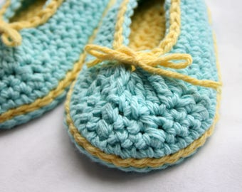 Handmade Cotton Baby Booties