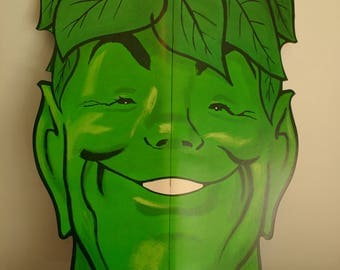 """Vintage Large Jolly Green Giant Coloring Book Promotional Huge Head Display Unused Mail Away Premium 1970s 26"""" Size"""