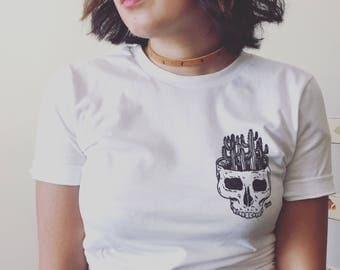 Cacti skull tee