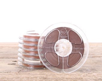 "8 Vintage  5"" Sound Tape / RCA Magnetic Recording Tape Reels With Boxes / Audio Recording Tape / Audiophile Gift Music Decor"