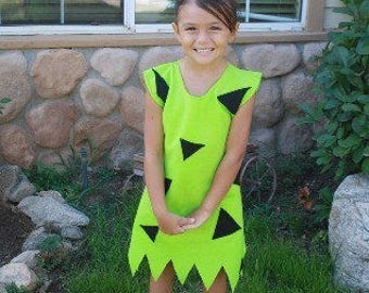 Pebbles costume green 0-8 youth