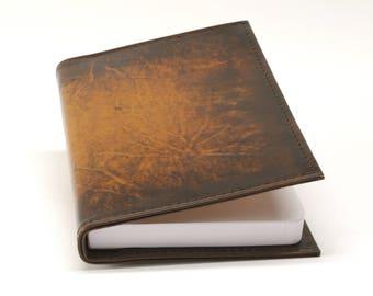 Custom Leather Slip Cover for Journal or Book