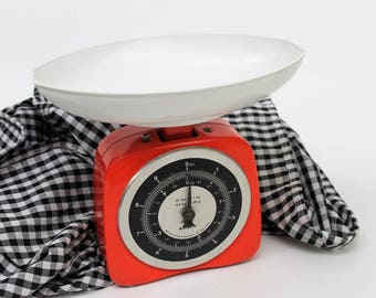 Krups Red, Black and White Kitchen Weighing Scales