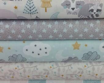 Blue Sweet Dreams Bundle from Blend Fabrics - 5 Fabrics
