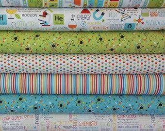 Science Bundle from Northcott Fabrics (8 Fabrics Total)