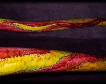 Didgeridoo / low drone didgeridoo / primal sound instrument / uniquely painted didgeridoo / hand made didgeridoo /