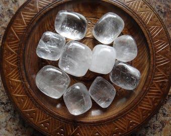 WHITE CALCITE Stone Gemstone Crystal Tumbled 4 oz Wiccan Pagan Metaphysical Reiki Chakra Supply