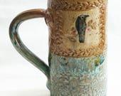 Ceramic raven mug 20oz. stoneware 20D075