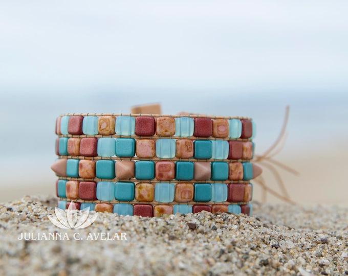 Bead Kit Spanish Tile Cuff designed by Julianna C Avelar Jewel Loom