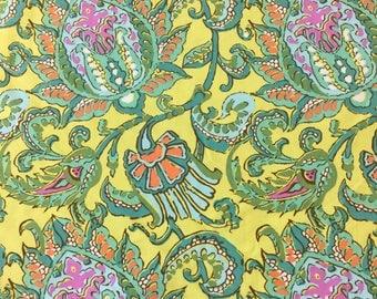 Rowan fabric soul blossom -Dancing in lemon By The Half Metre