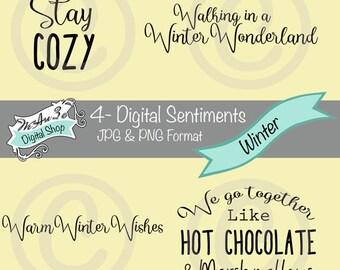 We Are 3 Digital Shop - Winter, Snow, Cozy