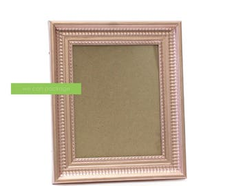 "ROSE GOLD Photo Frame Wedding Table Sign Shabby Chic Picture  8"" x 10"""