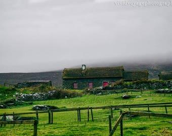 Irish Farm Photo, Digital Download, Ireland Landscape, Travel Art, Country Art, Ireland Photography, Rustic Landscape, Instant Download