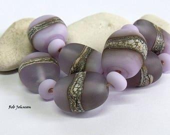 Morddif Stones, Lampwork Pebble Beads, SRA, UK