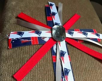 New England patriots hair clip