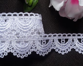 """1"""" White Venise Lace Trim - Venice Lace  selling by the yard"""
