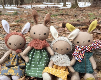 100% wool bunny friend