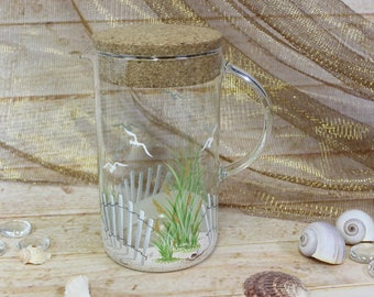 Seashore Pitcher With Lid