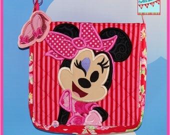 Disney Fashionista Minnie Mouse Crossbody Bag with Dangle
