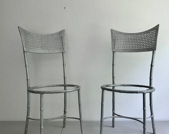 Pair of Metal Bamboo Chairs / by Moultrie