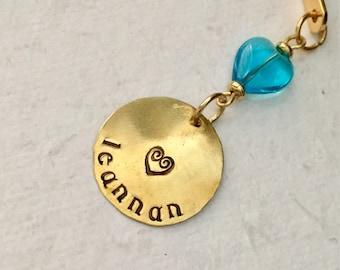ON SALE LEANNAN Bookmark, Sweetheart, Lover, Irish, Wedding, Anniversary, Birthday, Handmade, Winslow Rye, Useful Gift, Gifts Under 15, Ethe