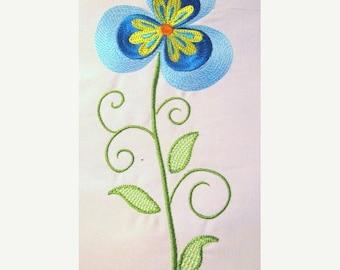 ON SALE Vintage Flower 08 Filled Machine Embroidery Design - 5x7 & 6x8