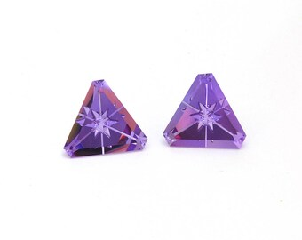 Amethyst Designer Gemstone Carving Faceted Fantasy Cut 17.0x17.1x10.3 mm 28.5 carats Free shipping