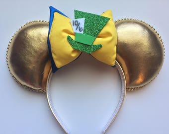 Alice in Wonderland Mad Hatter Mickey Ears