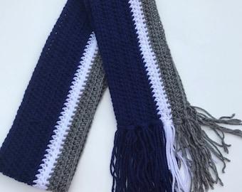 Handmade Crochet Dallas Cowboys Scarf