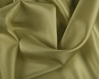 Chartreuse Silk Habotai, Fabric By The Yard