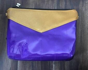 Purple & Gold Cross Body/Clutch Sparkle Vinyl Purse