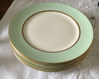 Dishes, Vintage Dishes, Vintage  Dinnerware, Pope Gosser Six Dinner Plates The Pattern is Spring