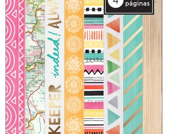 Amy Tangerine Rise and Shine -  Washi Tape Book  -- MSRP 5.00
