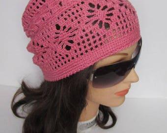 Women Summer Slouchy Beanie Crochet Slouchy Beanie Women Sun Hat Spring Women Slouchy Hat Slouchy Women Beanie Knitted Slouchy Beanie