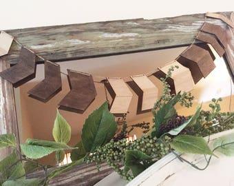 Arrow garland,nursery, photo prop, birthday wood garland, wooden arrow decor, custom, birthday party decorations, woodlands  baby shower