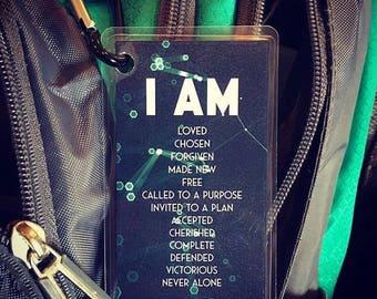 I Am Backpack Tag {Set of 1}