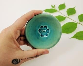 Paw Ring Dish, Turquoise, Ring Dish, In-Stock