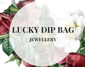 LUCKY DIP BAG - Jewellery including earrings, rings, charm necklaces, mystery bag, sale jewellery, special offer lucky bag surprise bag cij