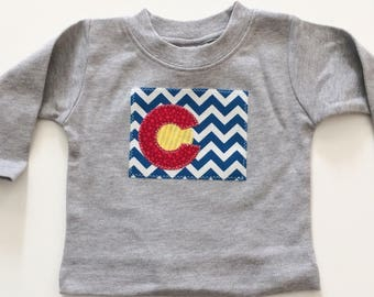Ready to ship Colorado shirt Colorado Baby Denver kids Ready to ship