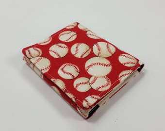 Kids Cash Envelope Wallet, Cash Budget Wallet -Baseball Red- for use with the Dave Ramsey System
